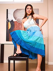 Ladyboy Sakura Blue Layer Dress