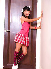 Young solo girl ladyboy Ood is the hottest teen transsexual