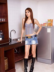 Ladyboy Paris Upskirt Denim