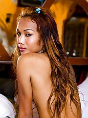 Ladyboy Em Naked and Horny