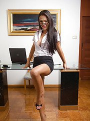 Ladyboy Amy Office Slut