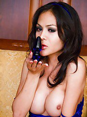 Busty Thai shemale Paer spreading ass cheeks and tranny pussy