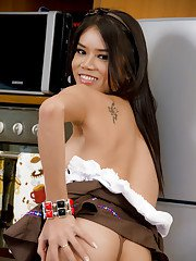 Pretty Thai ladyboy Dao is the hottest post op trans maid ever