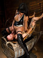 Outstanding brunette Yasmin Lee bangs with her new BDSM friend
