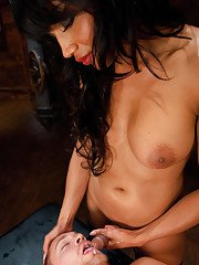 Asian tranny Yasmin Lee getting her big tits fucked and cock sucked