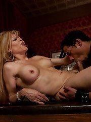 Stunning shemales Paris and Johanna B ganging up on an innocent dude