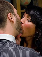 Gorgeous tranny Yasmin Lee abusing her man in pantyhose and high heels
