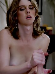 Skinny brunette shemale Mandy Mitchell ass fucking her patient