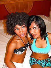 Lovely Asian trannies TT and June posing together in high heels