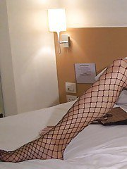 Young Thai ladyboy Yee playing with her vibrator at home