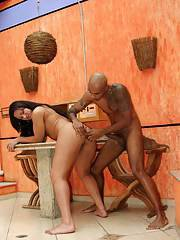 Beautiful Latina brunette shemale Patty getting her tight ass stretched