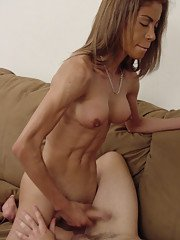 Beautiful dark skinned Latina tranny Nicole getting nasty on a couch