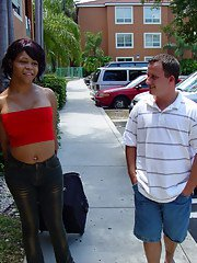 Sexy Latina tranny Chrissy gives and receives anal sex with man