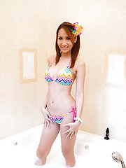 Ladyboy Nam Bikini Bubble Bath