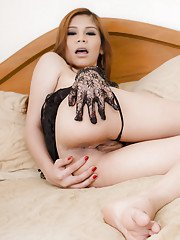 Sexy little Asian tranny Ann now has post op pussy that is fuck ready