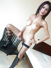 Ladyboy Fon Big Tits and Stockings