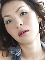 Pretty Thai ladyboy Momay plays with her shemale nipples while jacking