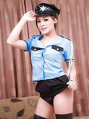 Stunning ladyboy Jen comes from Asia and has a very nice hard boner