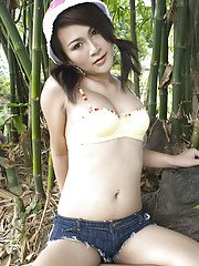 Ladyboy Gelly Naughty Outdoors