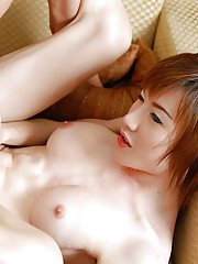 Young busty Asian ladyboy Toom getting deep dicked and jizzed on