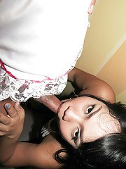 Cute Ladyboy Kita sticking her shecock into a sexy Asian chicks pussy