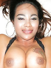 Buxom Asian Ladyboy Jasmine giving and receiving anal love with a man