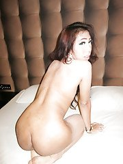 Skinny Asian Ladyboy Pat 2 giving oral sex before taking BB ass pounding