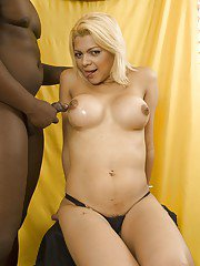 Fat black dick gets the royal oral treatment by shemale Giselle Lemos