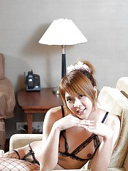 Cute little ladyboy Wahn turns out to be very bad while jerking off