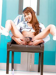Wild Asian ladyboy MJ is happy to demonstrate her doggy style