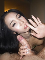Skinny brunette ladyboy on male ass fucking action with TS Alice